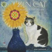 Zen Cat 2018 Wall Calendar