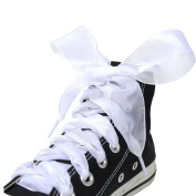 Lace Shoe Ties for High-heeled Shoes & Casual Shoelaces Multi-function Ribbon #White