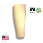 iM Sports BASELINE Tennis Calf Compression Sleeve + Reduce Injury + Fits Adults & Youth - Unisex + Made in USA - Single
