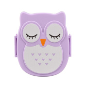 TONSEE Owl Lunch Box Food Container Storage Box Portable Bento Box