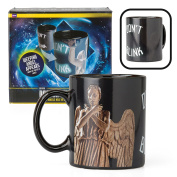Doctor Who Coffee Mug Weeping Angel Design Changes with Heat