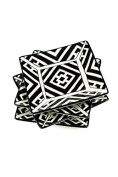 Vagabond Vintage, Black and White Moroccan Patterned Square Plates