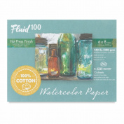 Fluid 100 Watercolour Hp 60kg Ez-Block 6X8