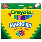 Crayola Classic Markers, Conical Tip, 12 per Set, Nontoxic, Assorted CYO587712 supplier:the.colbo.store