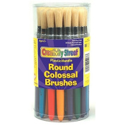 CHENILLE KRAFT COMPANY COLOSSAL ROUND WOOD HANDLE BRUSH