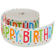 High Quality Happy Birthday Crepe Paper Streamers