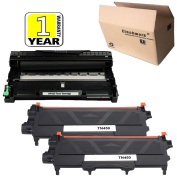 Etechwork DR420 Drum Unit and TN420 TN450 Toner Cartridge 3 Pack Black High Yield Compatible with Brother Laser Printer MFC-7860DW MFC-7360N MFC-7365DN HL-2220 Printer Series