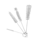AKORD Bottle/Kitchen Kettle Spout Teapot Nozzle Cleaning Brush, Stainless-Steel, White, Set of 4