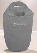 Diamante Dirty Clothes Basket Laundry Bag Foldable Storage Washing Ironing Grey