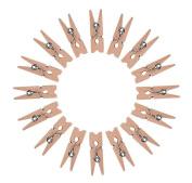 Dosige 50Pcs Mini Wooden Clips Retro Vintage Clothes Clip Photo Paper Peg Clothespins