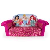 Marshmallow Furniture, Children's 2 in 1 Flip Open Foam Sofa, Disney Princess, by Spin Master