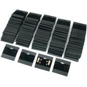 Black Velvet Plastic Display Cards for Earrings, Jewellery Accessories, 5.1cm x 5.1cm