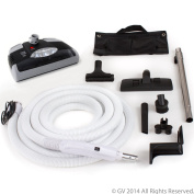 Central Vacuum kit with Power Head 9.1m hose and tools designed to work with Beam Electrolux Nutone Hayden designed to fit all brands black head