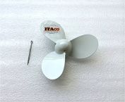 Propeller Aluminium with Cotter Pin fit 6F8-45942-01-EL 91490-30040 Yamaha Outboard 2HP 2 A B 7.6cm x 18cm 5 P