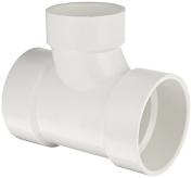 Spears P401 Series PVC DWV Pipe Fitting, Reducing Sanitary Tee, 10cm x 10cm x 7.6cm Hub