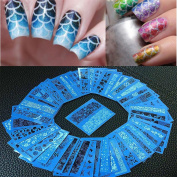 Alonea 48 sheets New Flower Lace Nail Art Water Transfer Stickers Nail Tips Decoration