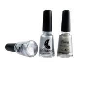 Alonea Mirror Nail Polish Plating Silver Paste Metal Colour Mirror Silver Base Coat for Nail Art