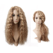 Lady Miranda Long Loose Wavy 2 Tonne Light Brown Ombre Golden Wig Heat Resistant Synthetic For Fashion Women