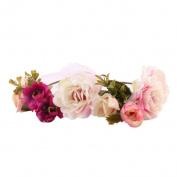 Alonea Baby Kids And Monther Rose Flower Headband Hairband Wreath Headdress