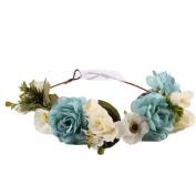 Alonea Women & Baby Kids Handmade Flower Hairband Crown Wedding Wreath Bridal Headdress