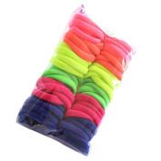 Alonea 50 pcs lowest price Girl Elastic Hair Ties Band Rope Ponytail Bracelet