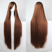 100cm 40 inch Long Straight Hair Wig Synthetic Heat Resistant Fibre Cosplay Wig
