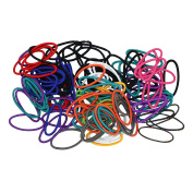 Goody Ouchless 4mm No Metal Hair Elastics - Multiple Colours - 124 Count