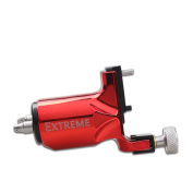 Dragonhawk Extreme Rotary Tattoo Machine Carbon steel Machine for Tattoo Artists with Normal Clip Cord Colouring Red