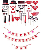 [USA-SALES] Happy Valentines Day Set : Props + Banner, Valentines Day Decorations, by USA-SALES