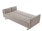 Limari Home Ryan Collection Modern Fabric Upholstered Living Room Sofa Bed, Beige
