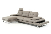 Limari Home LIM-70411 Cody Collection Modern Living Room Fabric Upholstered Sectional Sofa, Grey