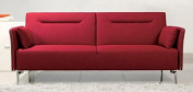 Limari Home Alina Collection Modern Fabric Upholstered Living Room Sofa, Red