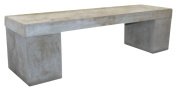 Limari Home Faile Collection Modern Style Concrete Living Room Seating Bench, 48cm Tall, Grey
