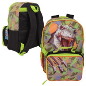 Green Dinosaur Backpack with Lunch Bag - 41cm