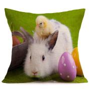 Easter Square Pillowcase,Muxika 43cmX43cm Fashion Top Quality Easter Pillow Case Sofa Bedroom Waist Throw Pillow Case Cushion Cover Home Decor Good Gift