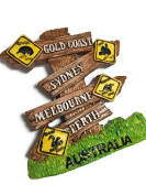 Perth Gold coast Perth Sydney Australia Souvenir Collection 3D Fridge Refrigerator Magnet Hand Made Resin FBA