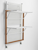 Arredamenti Italia AR_IT- 608 KLAUS the only drying rack for heated towel rails, finishing cherry wood.