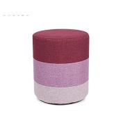 Fashion Solid Wood Stool Cloth Sofa Stool (Natural Solid Wood Frame)