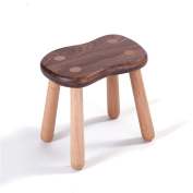 Chinese Style Creative Walnut 3/4 Wooden Legs Stool