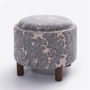 Simple European Style Solid Wood Incorporated Sofa Stool Tea Table Stool Cloth Multifunction Stool