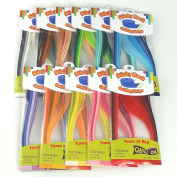 Colour Splendour - Sticky Back 5 mm Quilling Strips - 1100 Strips in 44 Shades