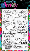 Dare 2B Artzy Raggity Rabbit (17240) Clear Cling Rubber Stamp Set