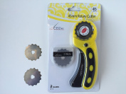 Crochet or Ribbon Edge Skip Stitch Rotary Blades and Cutter by CESDes for professional edge finishes