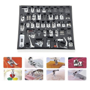 42Pcs For Brother Singer Janom Multifunction Domestic Sewing Machine Braiding Blind Stitch Darning Presser Foot Feet Kit Set
