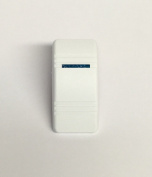 Euro Rocker Marine Switch Cover White with 1 Blue Lens