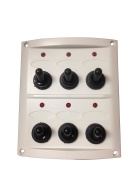 Pactrade Marine Boat 6 Gang Splash Proof Switch with Light Panel