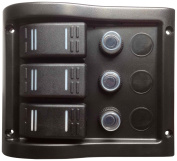 Pactrade Marine Boat 3 Gang Splash Proof Switch Panel ODM Circuit Breaker with Caps