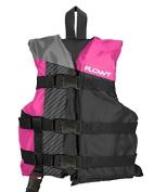 Flowt Multi Sport 40310-2-CLD Multi Sport Life Vest, Type III PFD, Leg Strap & Grab Strap, Pink, Child,
