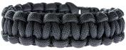 SE PCB7BK Paracord Bracelet with 7 Strands, 18cm , Black