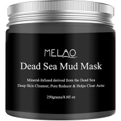 Dead Sea Mud Mask for Face, Acne, Oily Skin & Blackheads - 260ml - 100% natural facial treatment to minimise pores, reduce wrinkles, decrease acne and Improve skin Complexion